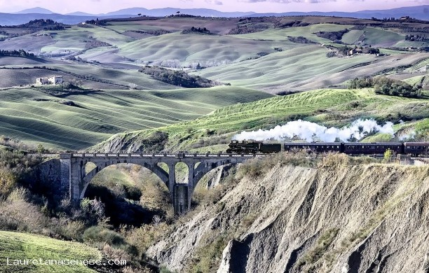 0 - The NATURE TRAIN in the Crete Senesi, along the basin Ombrone River
